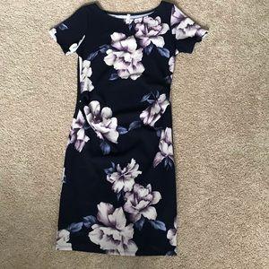 Pinkblush fitted maternity dress - size small